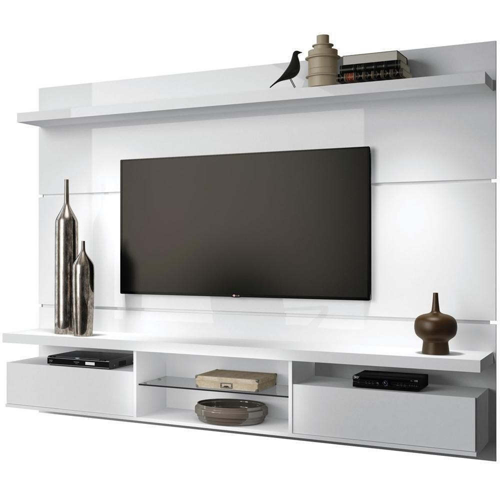 Painel TV Bancada Suspensa 60 Polegadas Livin 2.2 Branco - HB Móveis
