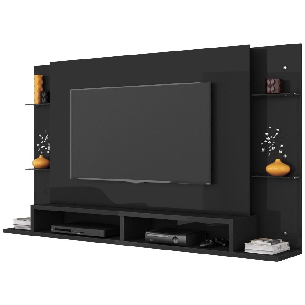 Painel TV Bancada Suspensa para TV até 55 Polegadas Moscou B03 Chumbo - Mpozenato