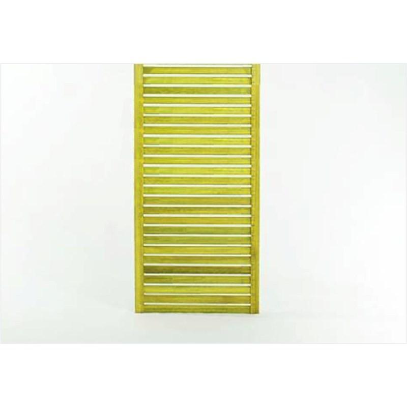 Painel Vertical Zen Estreito Stain Amarelo - Mão e Formão
