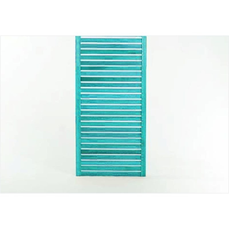 Painel Vertical Zen Estreito Stain Azul - Mão e Formão