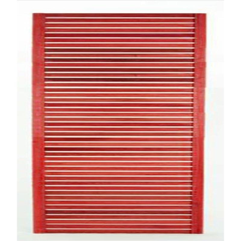 Painel Vertical Zen Stain Vermelho - Mão e Formão