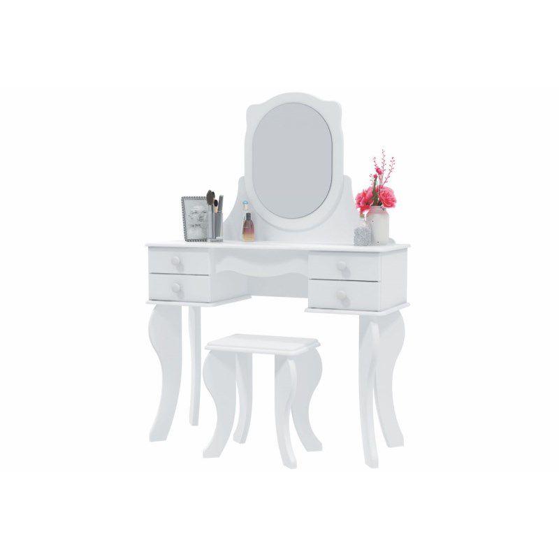 Penteadeira Princesa  Banqueta e 04 Gavetas - Patrimar Móveis