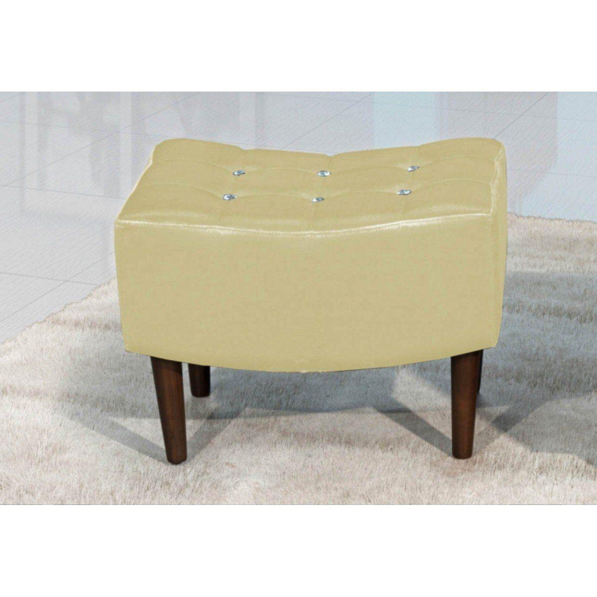 Puff Decorativo Sandy 60cm Pés de Madeira - Perfan