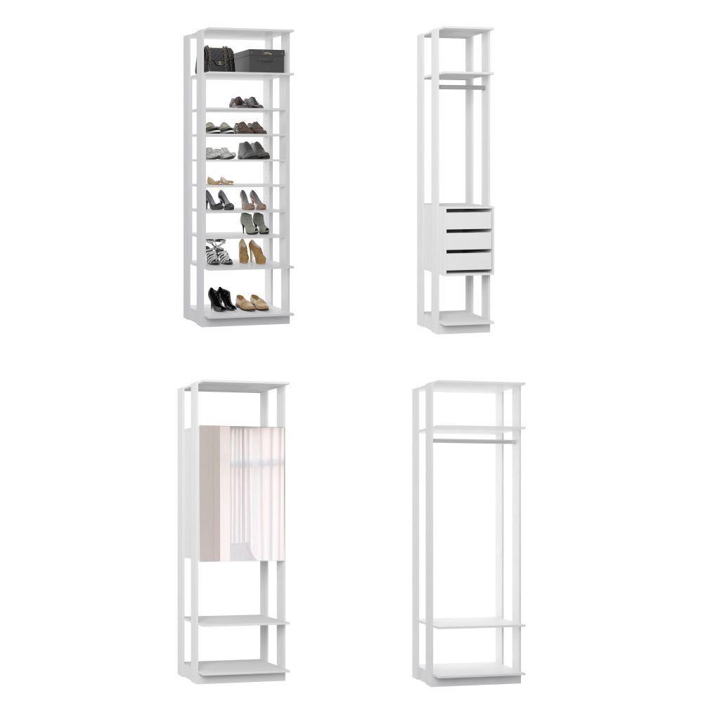 Quarto Modulado Closet 4 Módulos Clothes Be Mobiliário
