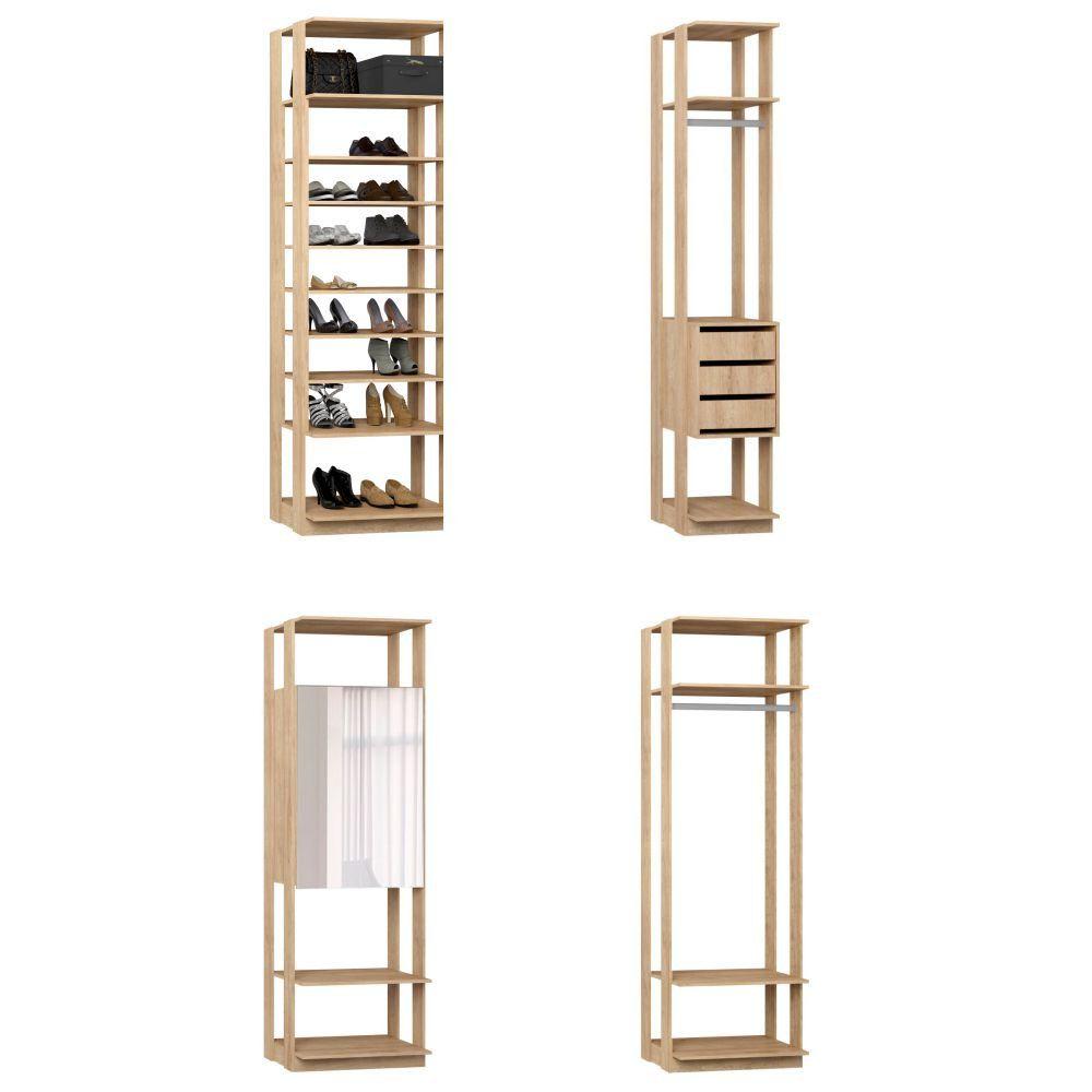 Quarto Modulado Closet 4 Módulos Clothes - BE Mobiliário