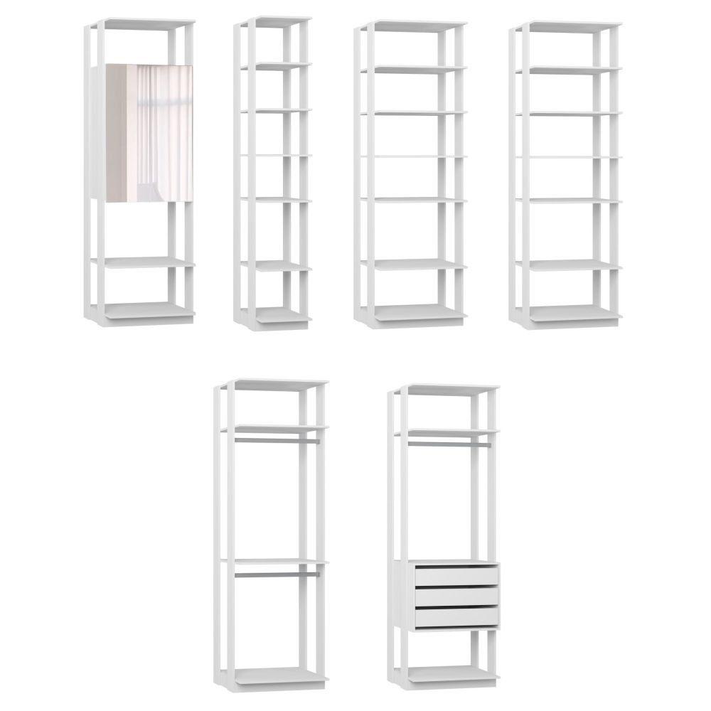 Quarto Modulado Closet 6 Módulos Clothes - BE Mobiliário