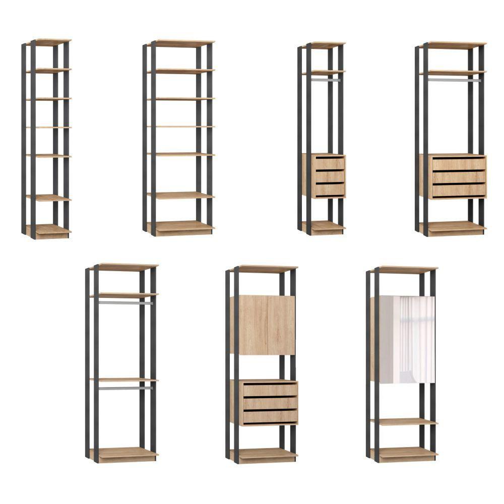 Quarto Modulado Closet 7 Módulos Clothes - BE Mobiliário
