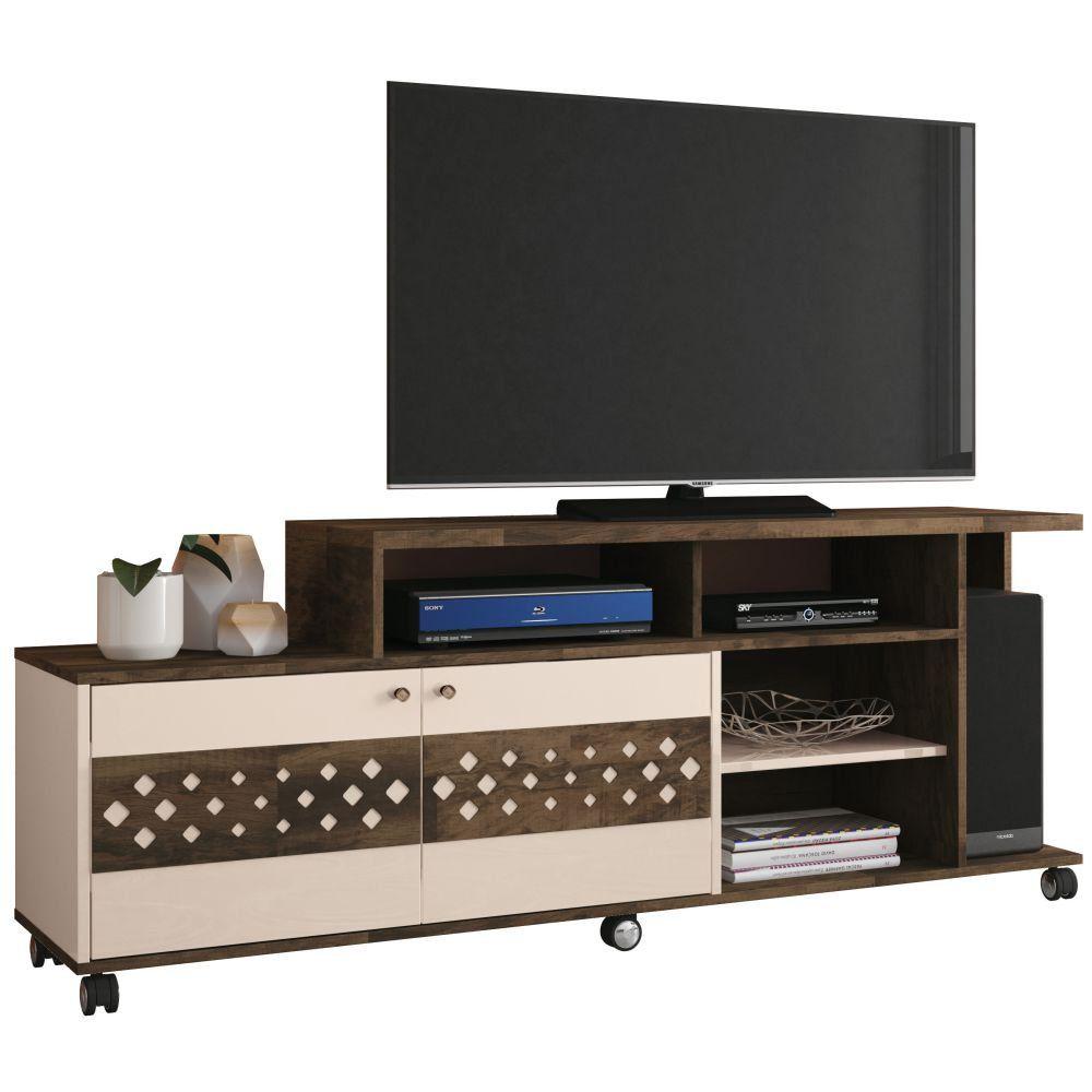 Rack Bancada Para TV até 47 Pol. Inovatta 2 Portas - HB Móveis