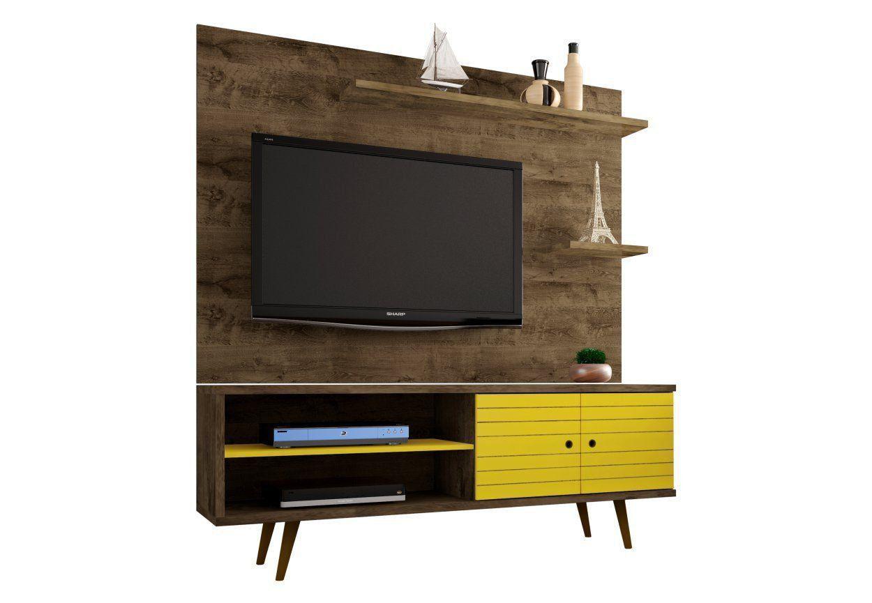 Rack com Painel Onix para TV 55 Polegadas 160 cm - Bechara