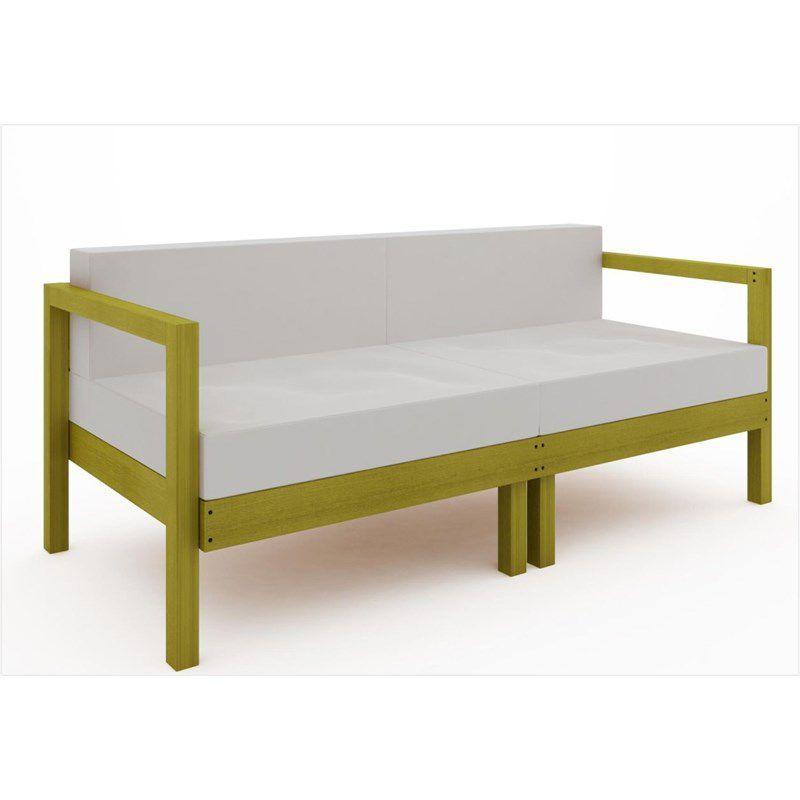Sofá 2 Lugares Componível Lazy com Almofadas - Mão & Formão