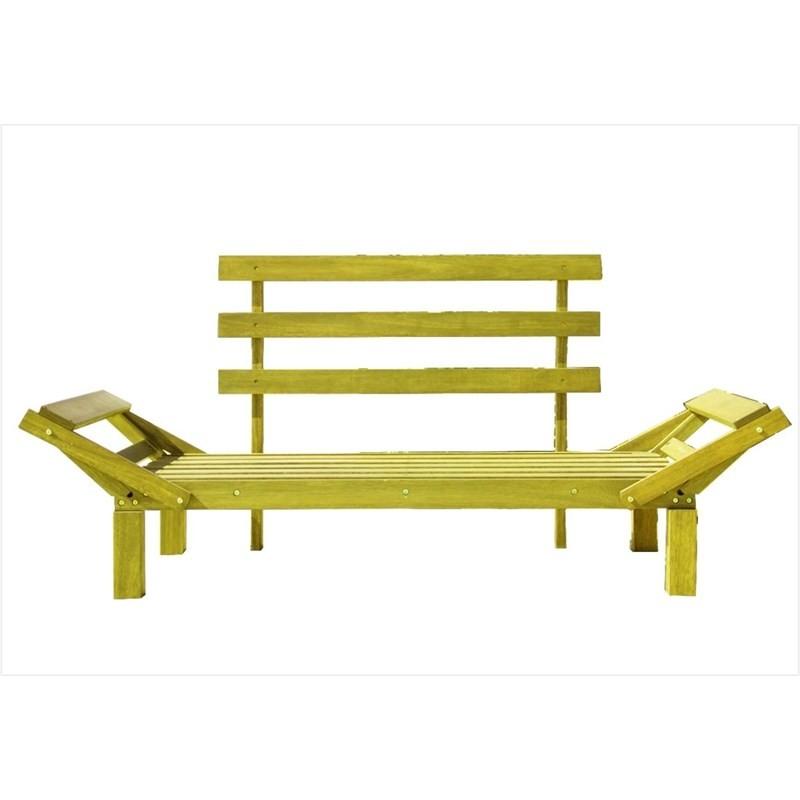 Sofá Cama Futon Country Comfort Stain Amarelo - Mão & Formão