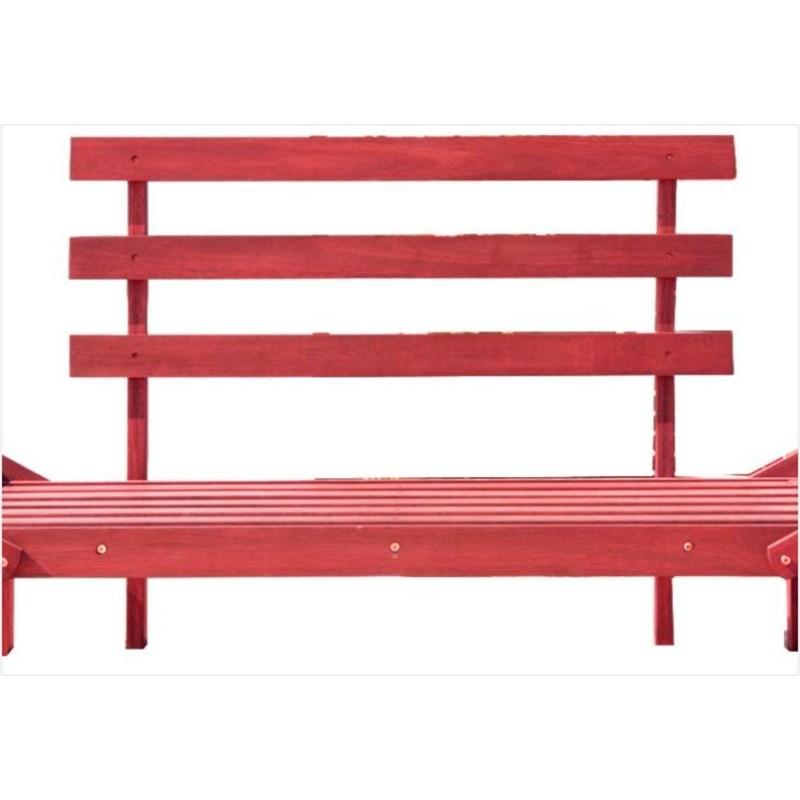 Sofá Cama Futon Country Comfort Stain Vermelho - Mão & Formão