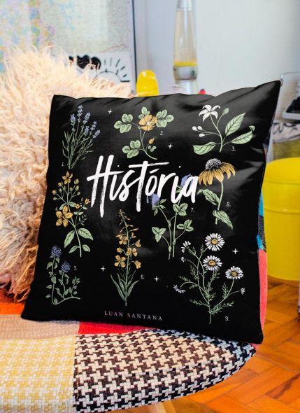 Almofada Luan Santana Live História Flores