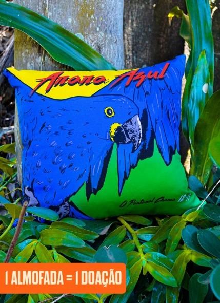 Almofada O Pantanal Chama <b>Arara Azul</b>