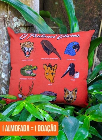 Almofada O Pantanal Chama <b>Diversidade Animal</b>