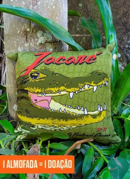 Almofada O Pantanal Chama <b>Jacaré</b>