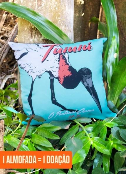 Almofada O Pantanal Chama <b>Tuiuiú</b>