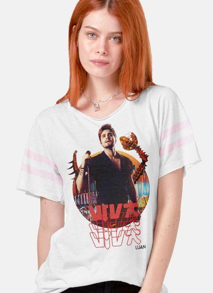 Camiseta Athletic Feminina Luan Santana DVD Viva em Salvador