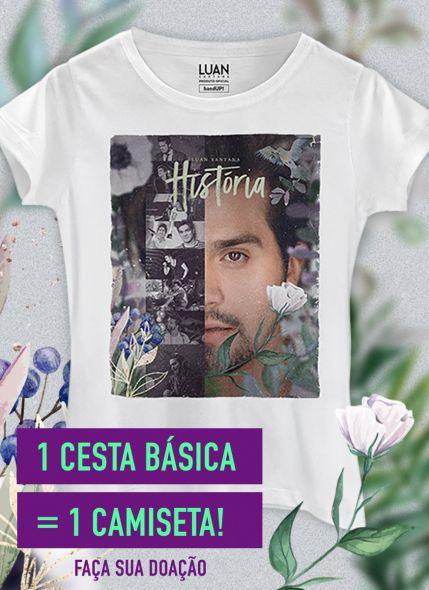 Camiseta Feminina Luan Santana Live História Photo