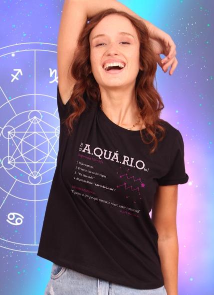Camiseta Feminina Luan Santana Signo Aquário