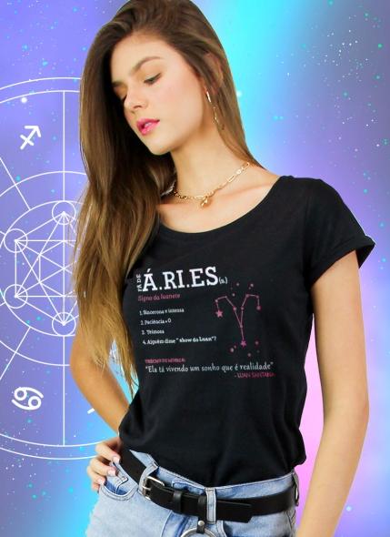 Camiseta Feminina Luan Santana Signo Áries