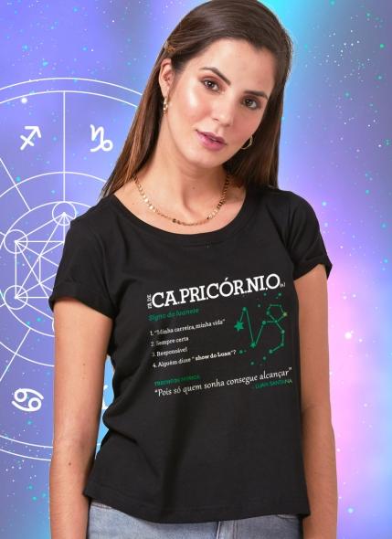 Camiseta Feminina Luan Santana Signo Capricórnio