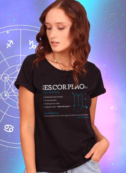 Camiseta Feminina Luan Santana Signo Escorpião