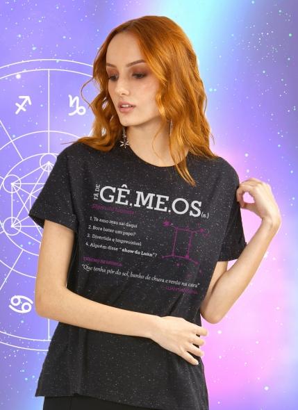Camiseta Feminina Luan Santana Signo Gêmeos