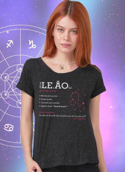 Camiseta Feminina Luan Santana Signo Leão