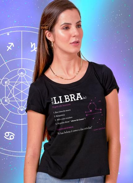 Camiseta Feminina Luan Santana Signo Libra