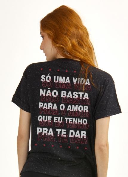 Camiseta Feminina Luan Santana Só Uma Vida