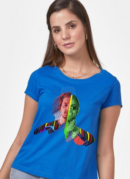 Camiseta Feminina Luan Santana Sofrendo feito um Louco Capa