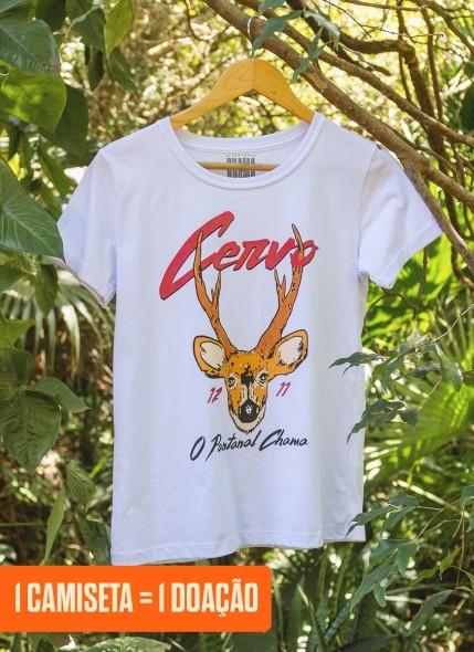 Camiseta Feminina O Pantanal Chama <b>Cervo</b>