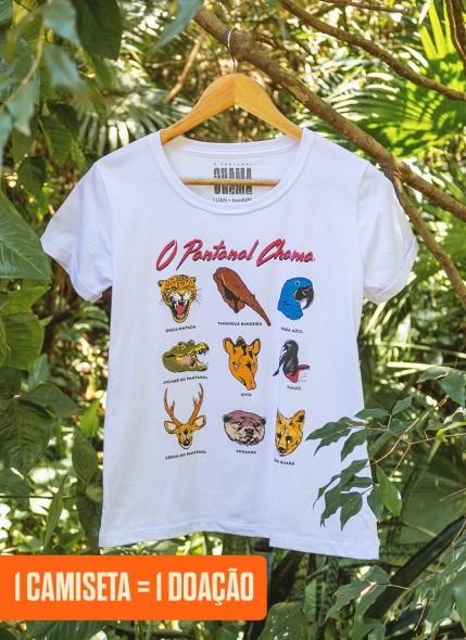 Camiseta Feminina O Pantanal Chama <b>Diversidade Animal</b>
