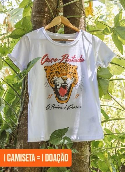 Camiseta Feminina O Pantanal Chama <b>Onça-Pintada</b>