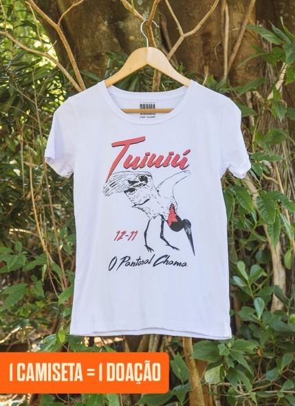 Camiseta Feminina O Pantanal Chama <b>Tuiuiú</b>