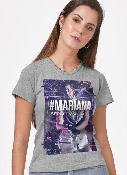 Camiseta Feminina Personalizada Luan Santana Você será Contagiada Mescla