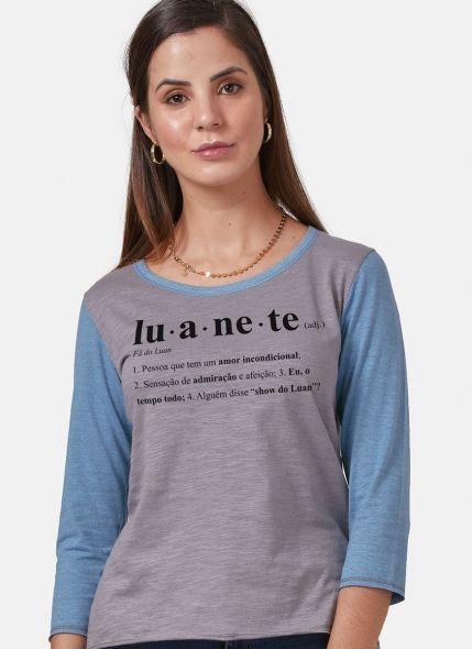 Camiseta Manga Longa Feminina Luan Santana Ser Luanete