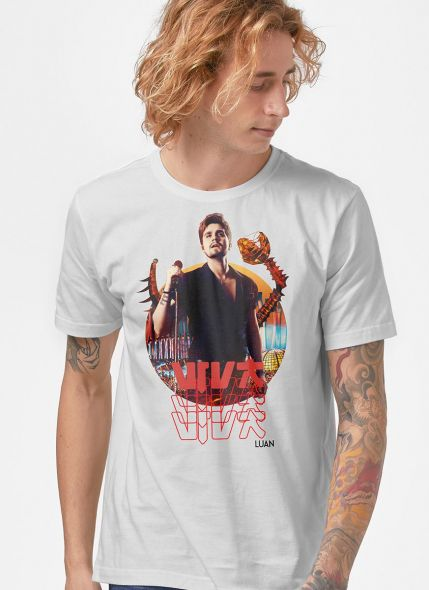 Camiseta Masculina Luan Santana DVD Viva em Salvador