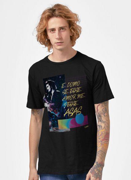 Camiseta Masculina Luan Santana É Como se Esse Amor me Desse Asas