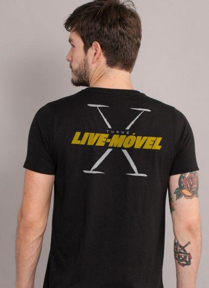 Camiseta Masculina Luan Santana Live-Móvel X