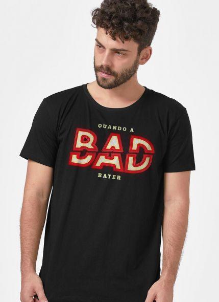 Camiseta Masculina Luan Santana Quando a Bad Bater
