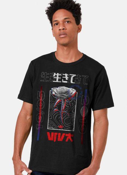 Camiseta Masculina Luan Santana Rosa Cyber