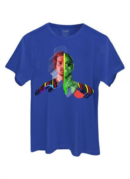 Camiseta Masculina Luan Santana Sofrendo feito um Louco Capa