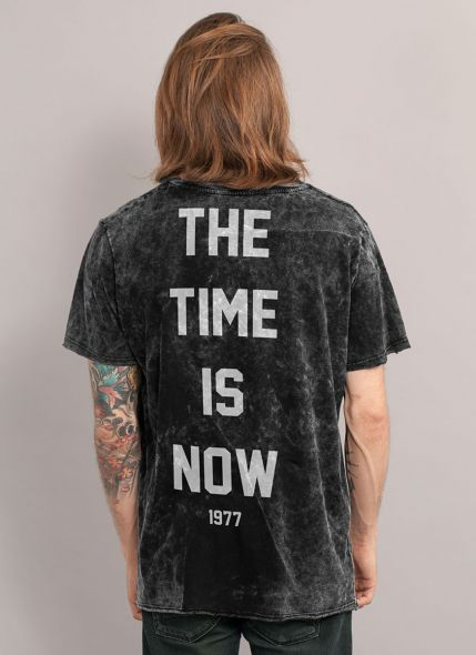 Camiseta Masculina Marmorizada Luan Santana 1977 The Time is Now