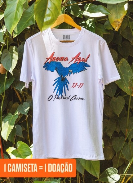 Camiseta O Pantanal Chama <b>Arara Azul</b>