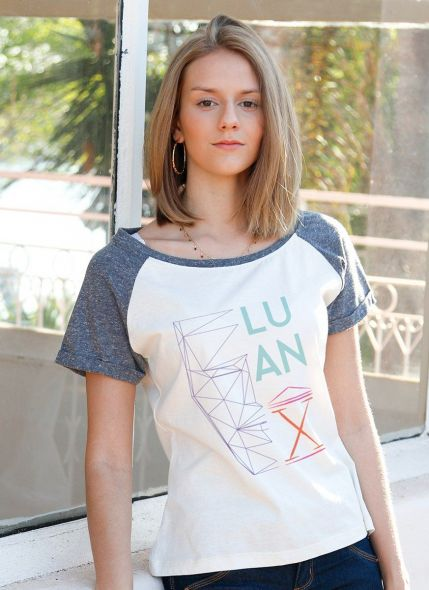 Camiseta Raglan Feminina Luan Santana Tour