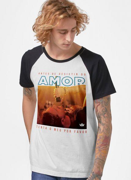 Camiseta Raglan Masculina Luan Santana Antes de Desistir do Amor
