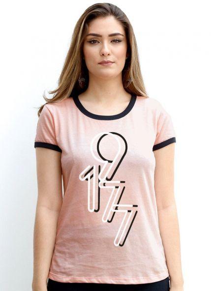 Camiseta Ringer Feminina Luan Santana 1977