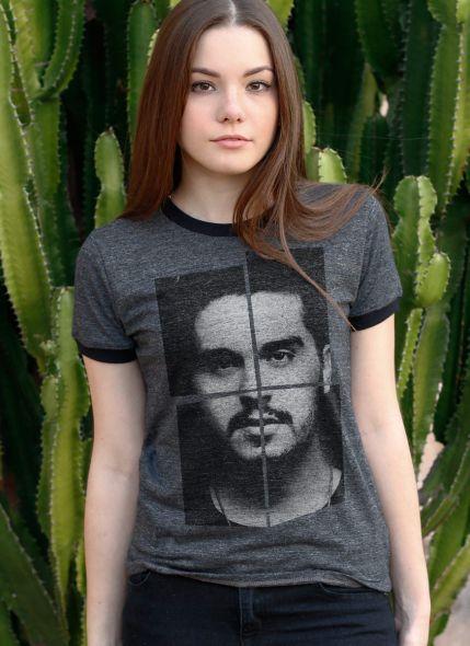 Camiseta Ringer Feminina Luan Santana Faces
